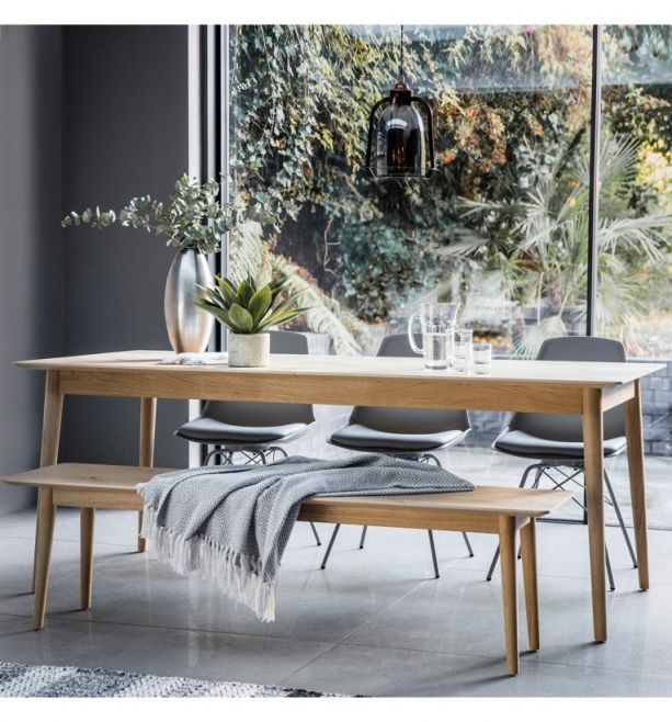Milano 6 8 Seater Extending Oak Dining, Dining Bench And Chairs