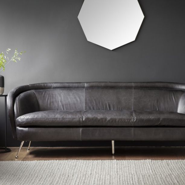 Commercial Office Paint Color Ideas, Tesoro Black Leather Sofa Contemporary Leather Sofa