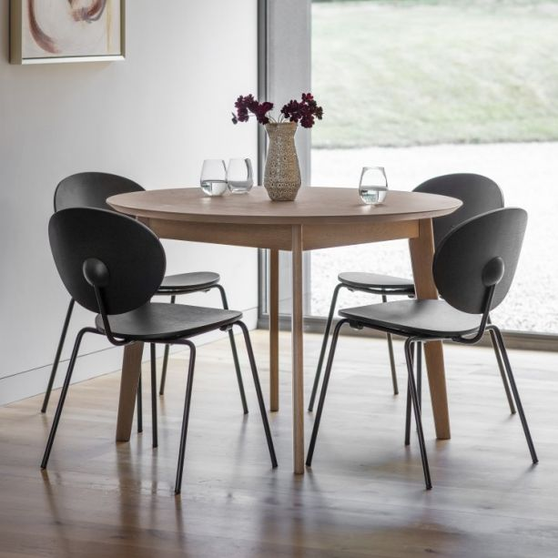 Forden Grey Round Dining Table Grey Modern Dining Table