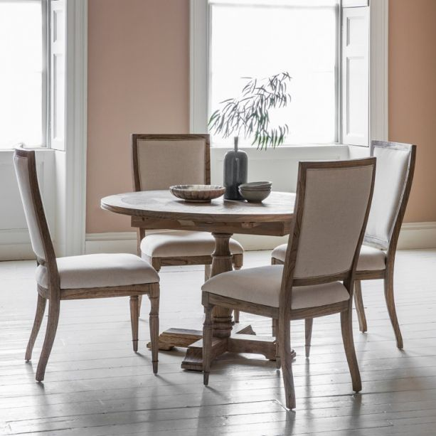 Mustique Round 4 6 Seater Extending Dining Set Style Our Home