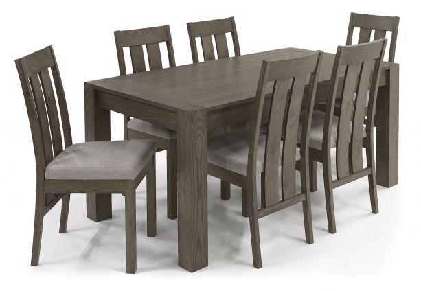 Turin Dark Oak Dining Table Medium 4 6, Oak Dining Room Table